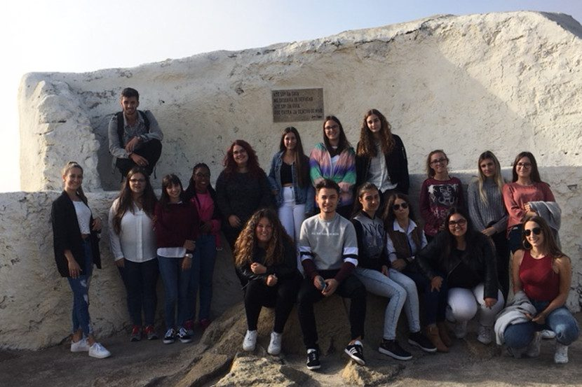 visita de estudo dos alunos da escola profissional de vila do conde a capelas de vila do conde