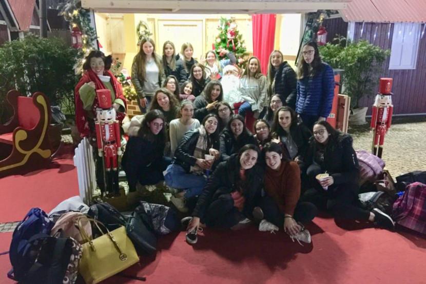 Escola profissional de vila do conde visita natal na praça